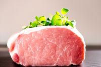 Raw roast of pork