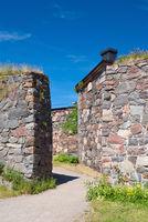Walls of Suomenlinna fortress
