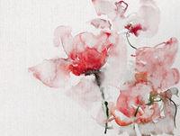 blumen malerei aquarell strauß hell