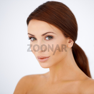 Beautiful woman with lovely natural skin