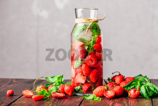 Detox Water with Strawberry and Basil