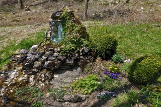Marienfigur am Wegesrand auf der Schwäbischen Alb