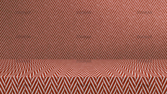 Red tweed fabric empty modern studio background, product display with copy space for display of your content