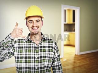 handyman call me pose