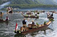 Seeprozession zu Fronleichnam in Hallstatt