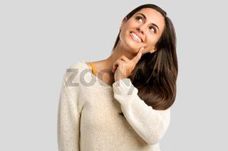 Beasutiful woman thinking