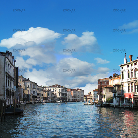 View of famous Grand Canal, Venice