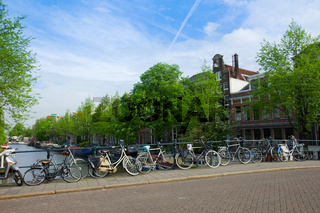 bicycles  of Amsterdam, Netherlands
