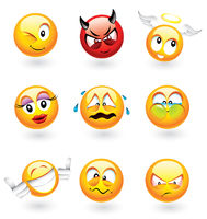 Various emoticons