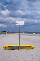 Nudist Beach Sign in Dahme, Germany