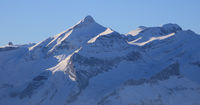 Mount Oldehore and Diablerets Glacier seen from Horeflue, Schoenried.