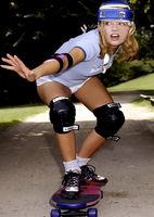 Girl auf Skateboard