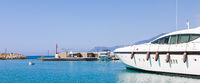 Yacht in Cala del Forte - Ventimiglia. Principality of Monaco ports' brand new marina