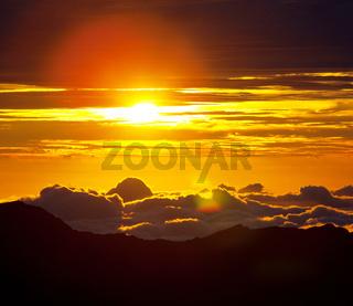 Sunset on Hawaii