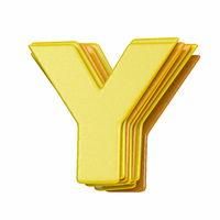 Yellow font Letter Y 3D