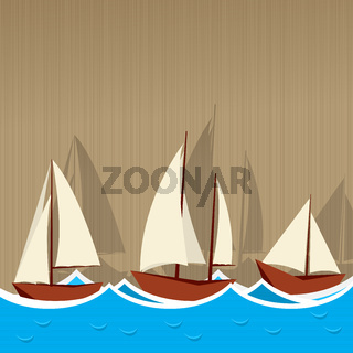 Sailing ships background