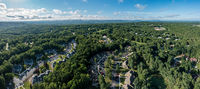 Aerial view of a vacation residential development in Tennessee, USA