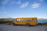 Yellow Royal Greenland School Bus