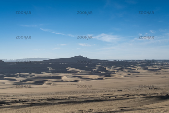 sandy desertification land landscape