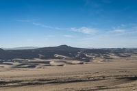 sandy desertification land landscape