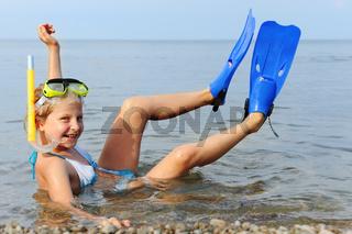 The girl on seacoast