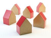 wooden hosue shaped blocks