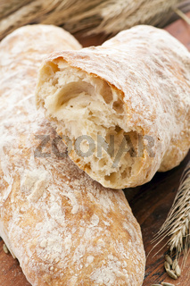 white bread on the wooden plate