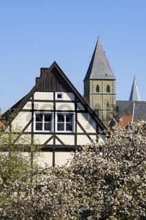 Altstadt mit St. Pauli Kirche, Soest, Westfalen, Nordrhein-Westfalen, Deutschland, Europa