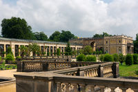 Orangerie building of the renaissance castle Sanssouci in Potsdam on sunny day in summer