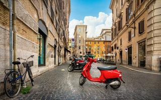 Little street in Rome