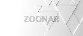 Abstract modern white triangle background, 3d rendering