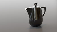black ceramic coffee pot