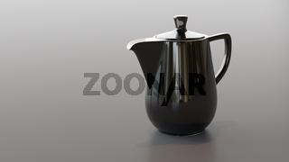 black ceramic coffee pot