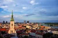 Bratislava City at Sunset in Slovakia
