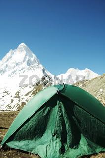 Camp in Himalayan