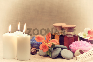 Object for the spa with candle