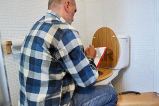 Klempner mit Klemmbrett plant WC Reparatur