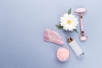 Gua sha jade roller for face massage