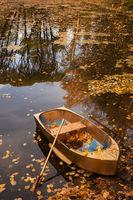 Golden wooden boat