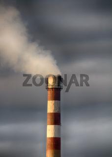 Smoking plant pipe.