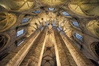 Barcelona. Catalonia. Spain. The church of Santa Maria del Mar (Saint Mary of the sea)