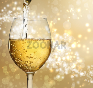 Wine Glass with White Wine