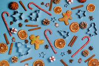 Christmas food background