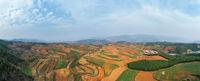 beautiful yunnan red land landscape