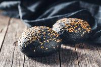 Black bun. Dark pastry with sesame seeds.