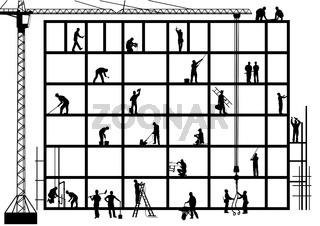 Handwerker auf dem Bau.eps