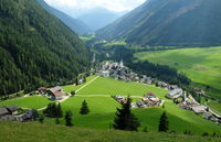 Kals am Grossglockner a village in the alps a valley in the mountains