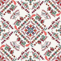 Rosemaling vector pattern 6