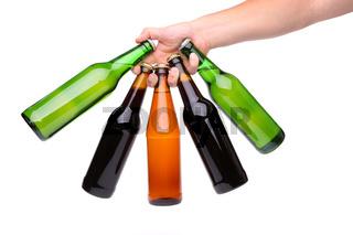 Five different bottles fan