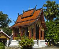 Tempel mit Staffeldach, Wat Sibounheuang, Luang Prabang, Laos